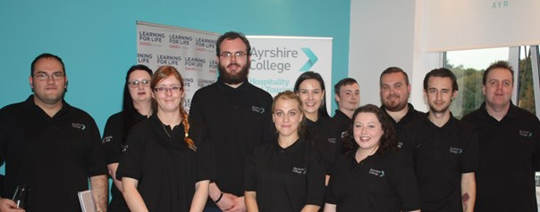 Ayrshire College raises a glass to continued success