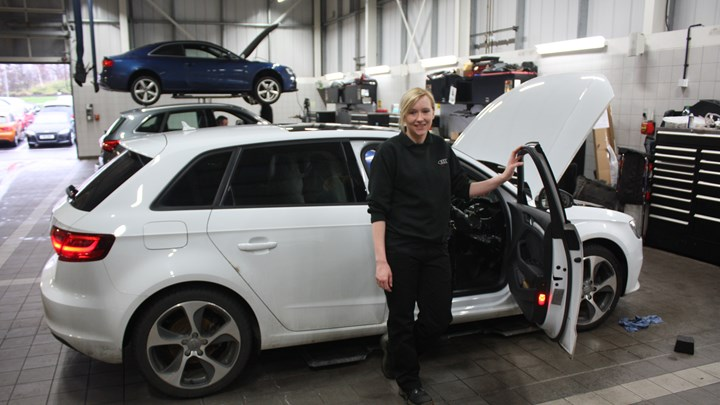 Ayr Audi apprentice gears up for long service