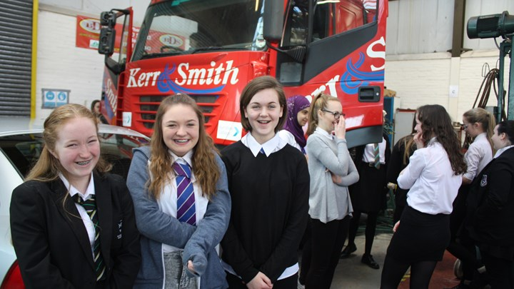 Girls get into STEM at Ayrshire College