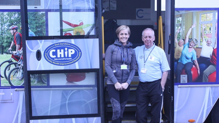 CHIP van encourages Ayrshire College students to get healthy