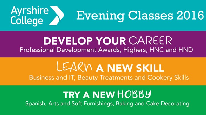 Ayrshire College Evening Classes open now