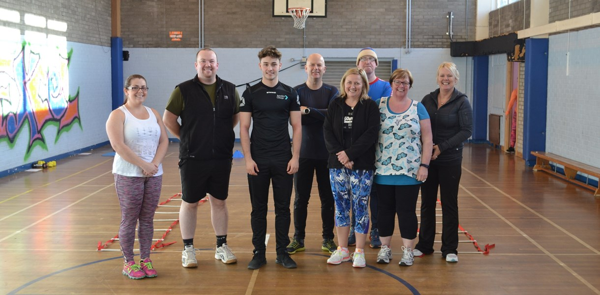 Council staff get fit at Ayrshire College