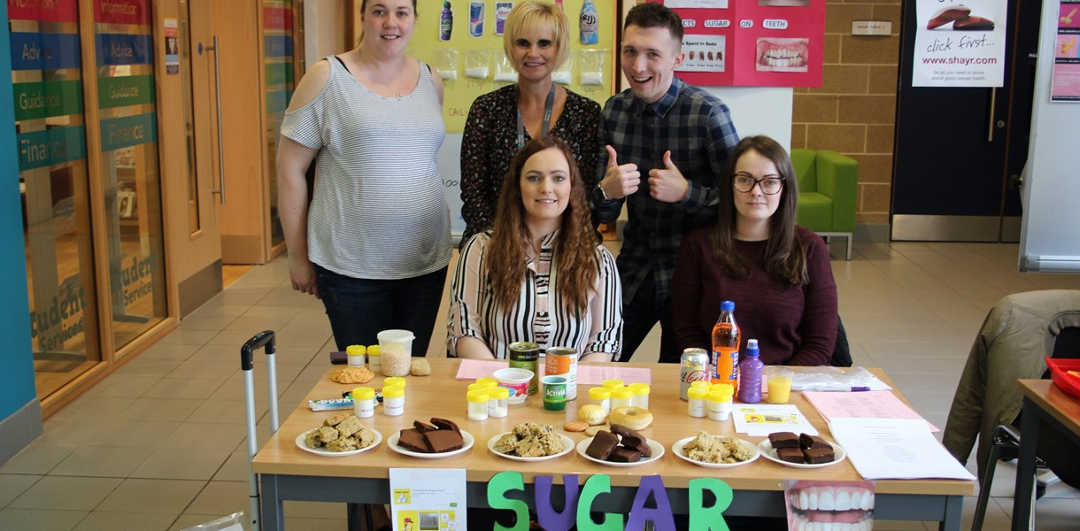 Students promote good health at Kilwinning Campus