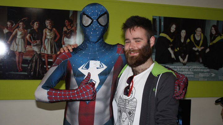 Students meet their superheroes at Ayrshire comic convention