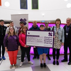 Glasgow Children's Hospital Charity cheque.JPG