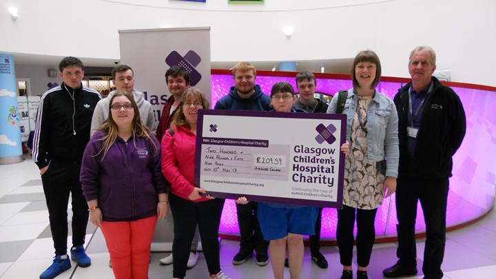 Ayrshire College students donate to Glasgow children's hospital