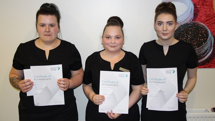 Beauty students show off their skills
