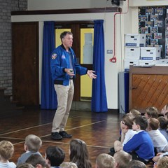 Mike Foale CBE school visit