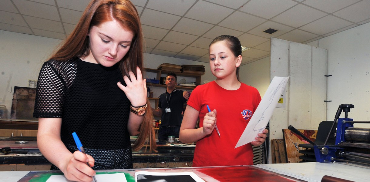 Secondary school pupils hear about creative industry options