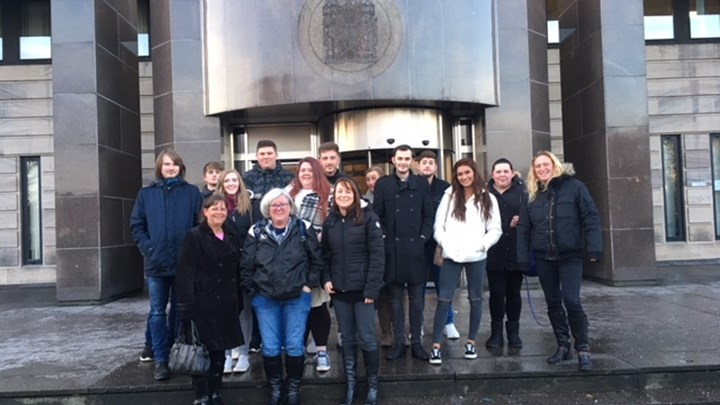 Business students visit the busiest court in Scotland