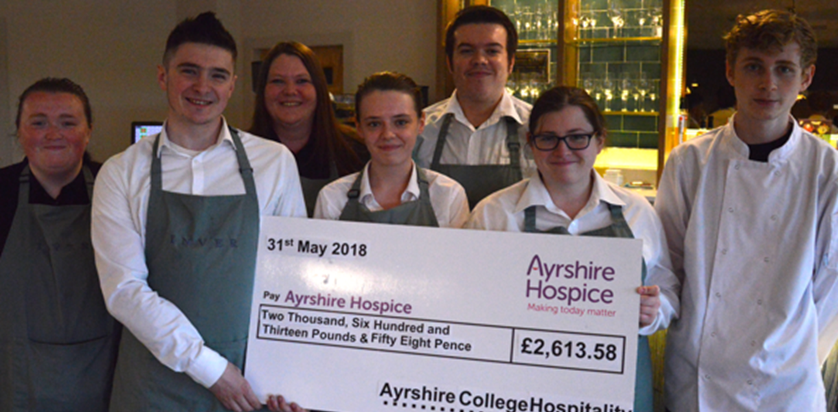 Hospitality students raise money for local charity