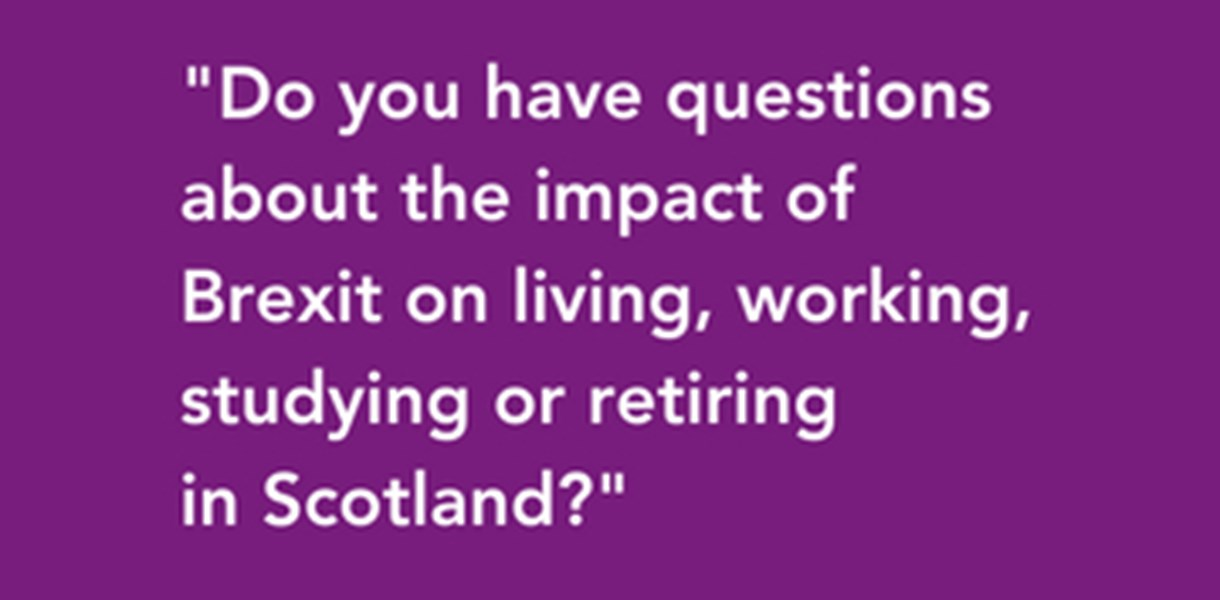 Are you an EU citizen living or working in Scotland?