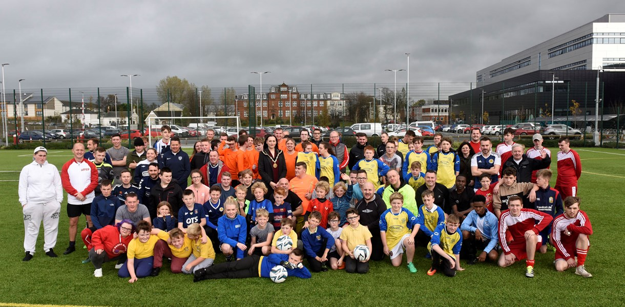 Football tournament at Ayrshire College kicked off National Care Experience Week 2018