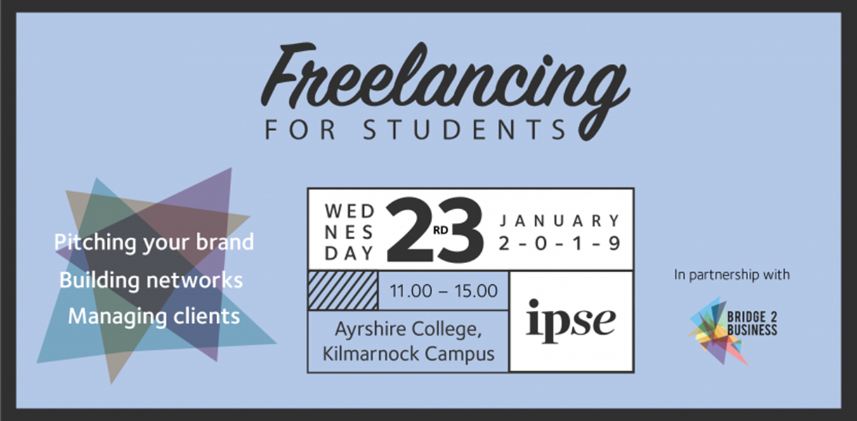 Ayrshire College to host first IPSE freelancing event for students in Scotland