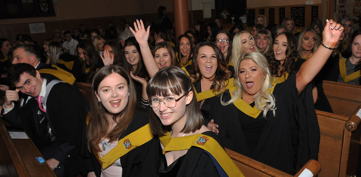 Kilwinning graduation for college students